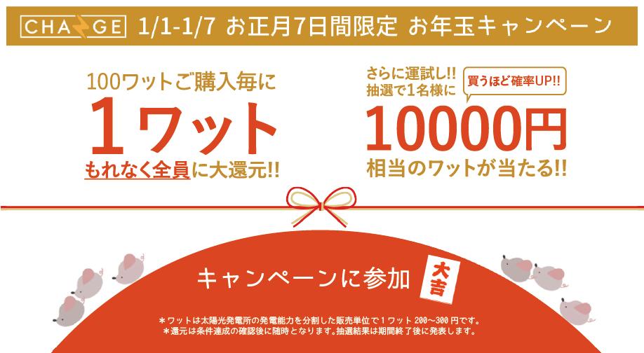 【新春御礼1月1日〜開始!】お正月7日間限定 お年玉キャンペーン!